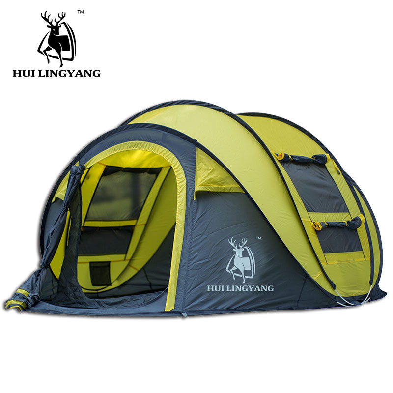 HUI LINGYANG barraca de camping pop up tenda aberta ultraleve barraca de praia gazebo barracas de acampamento ao ar livre barraca de acampamento