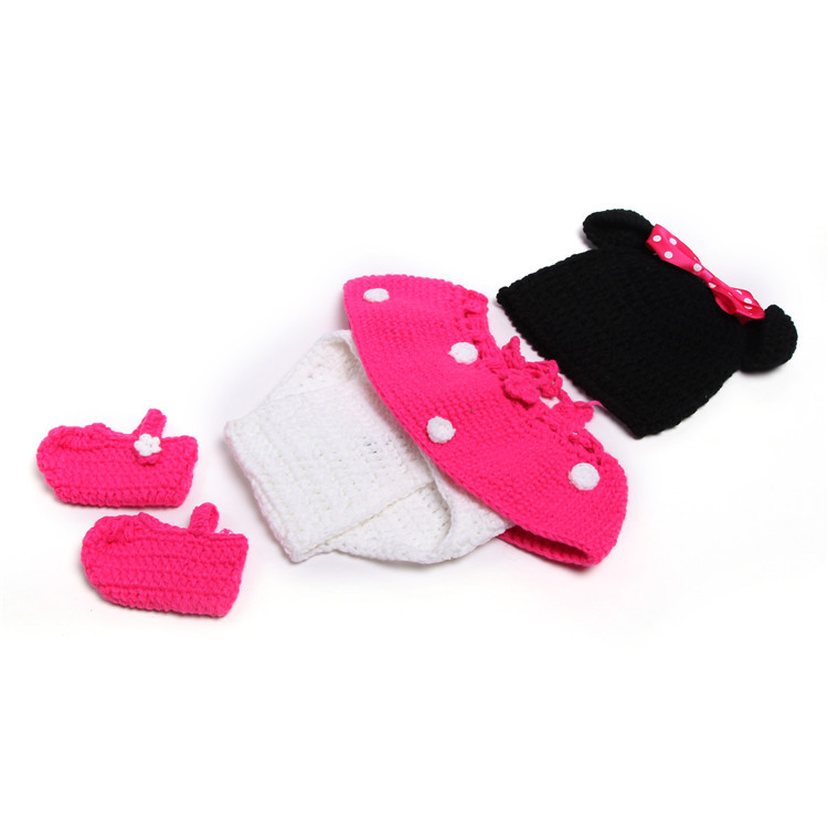 Crochet Baby Girls Minnie foto apoyos bebé dibujos animados ...