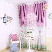 100 Ployester Mediterranean Style Drape Curtain Room Darkening 95 Light Blocking Sky Blue Nature Colors Curtains