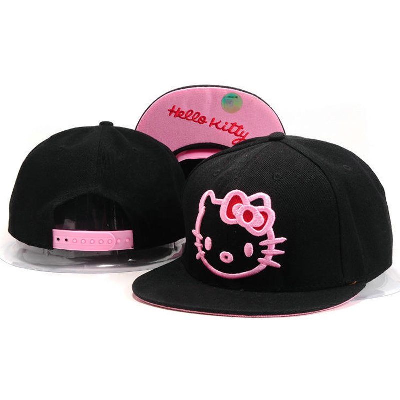 7b53b9437ab53 Hello Kitty Snapback Hats For Men   Women cute Pink Cotton Snap back baseball  caps Gorras hip hop cap Summer Style Cartoon hat-in Baseball Caps from  Apparel ...