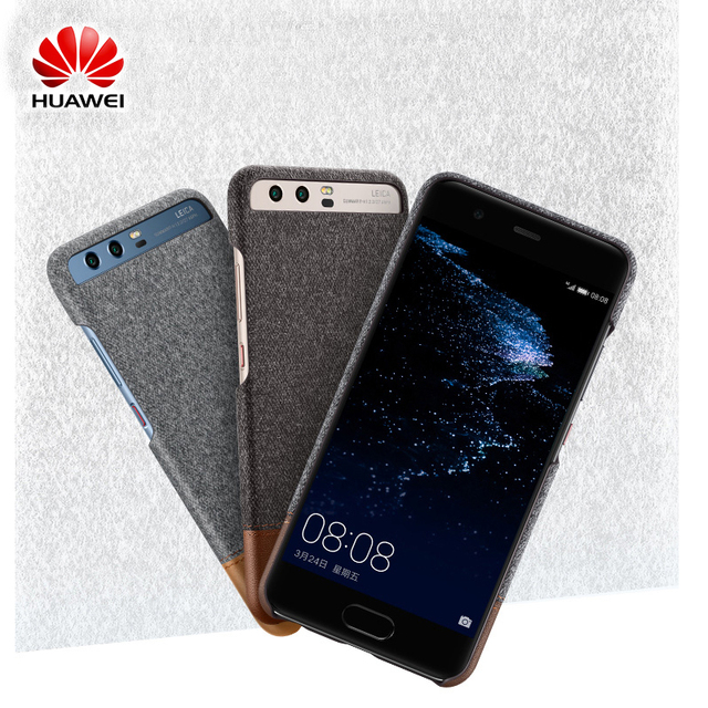 detailed look ee1e4 4da86 US $10.52 19% OFF|100% Original Huawei P10 Case P10 Plus Case Back Cover  Mix Fiber and Leather Shell Hard Case For Huawei P10 P10 Plus Case-in  Fitted ...
