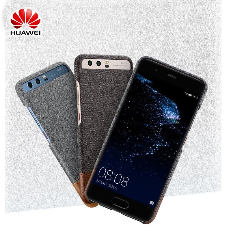 imágenes para 2017 Nueva Llegada Original de Huawei P10 P10 Más Caso de La Contraportada mezcla de Fibra y Cuero Caso de Shell Duro Para Huawei P10 P10 Plus