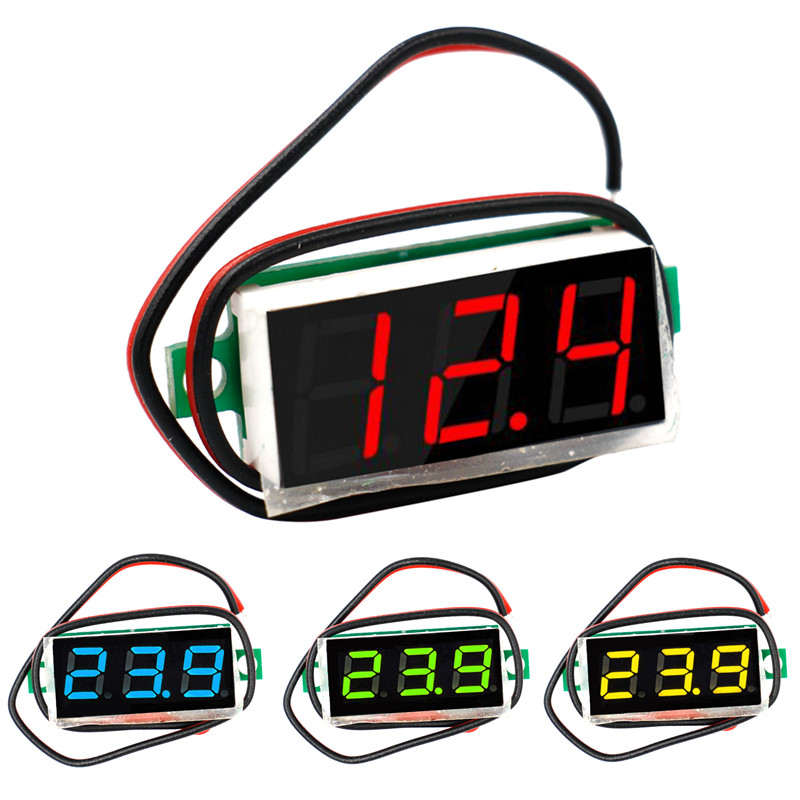 LCD digital Panel voltmeter voltimetro Volt tester Gauge voltage meter DC 2.4V-30V 0.28 inch for Motorcycle car 42% off dc 2 4v 30v 2wires voltmeter mini 0 36 digital voltage gauge meter for auto car