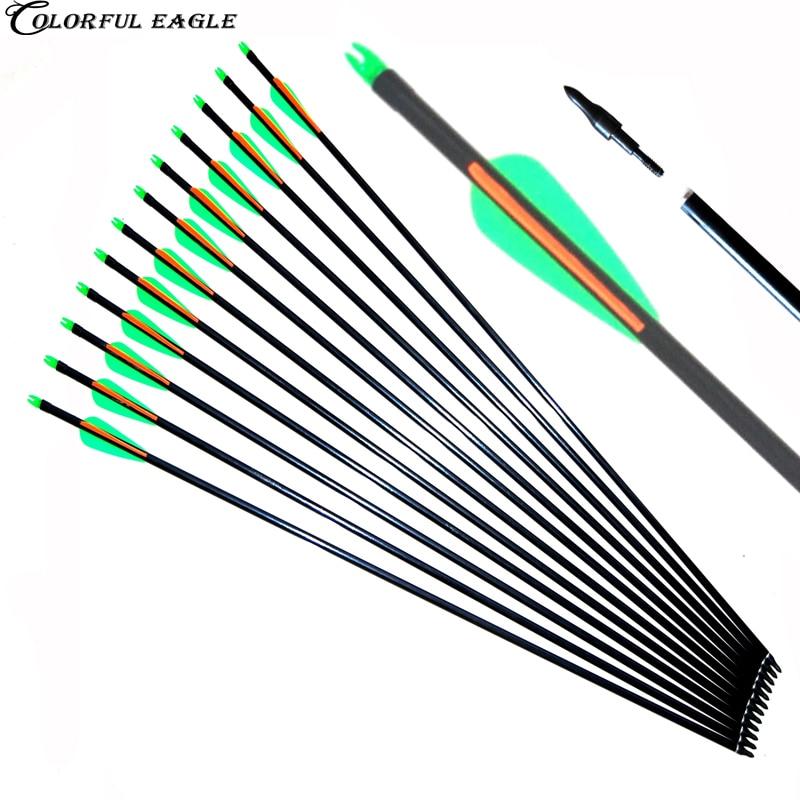 12PCS//SET LED Luminous Arrow Nock Outdoor Hunting Archery Arrow Tail Light J5