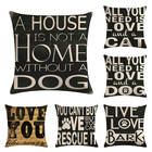 45cm*45cm English alphabet dog and cat design linen/cotton throw pillow covers couch cushion cover home decorative pillows