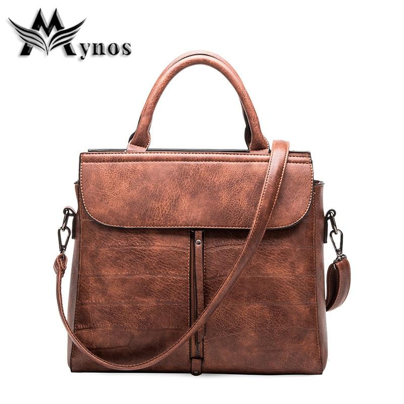 Mynos Selling Retro Famous Brand Designer Luxury leather Women Handbag Shoulder Crossbody bag For Women Messenger Bag Sac A Main часы настенные engy ес 19 d305мм