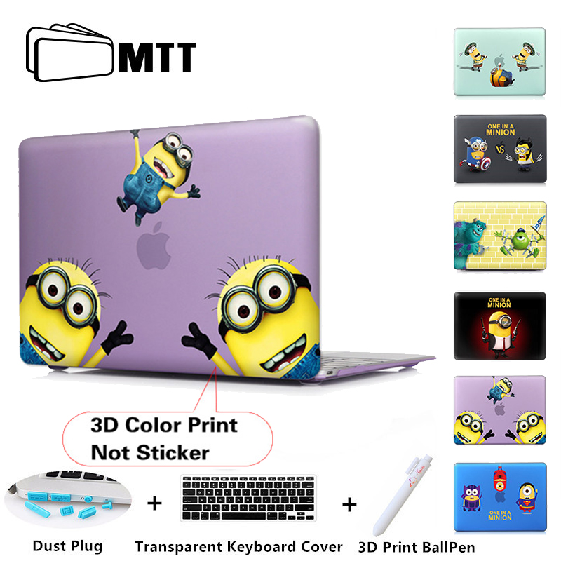 whimsy Minions Matte Hard Case For macbook air pro 13 11 12 15 Retina Laptop Bag
