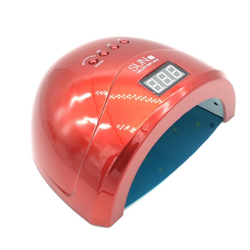 Sun1S Nail Dryer 24W/48W LED/UV Lamp Nail Dryer Fingernail Toenail Gel Curing Manicure Machine Nail Art Salon Tool Low Heat shanghai kuaiqin kq 5 multifunctional shoes dryer w deodorization sterilization drying warmth