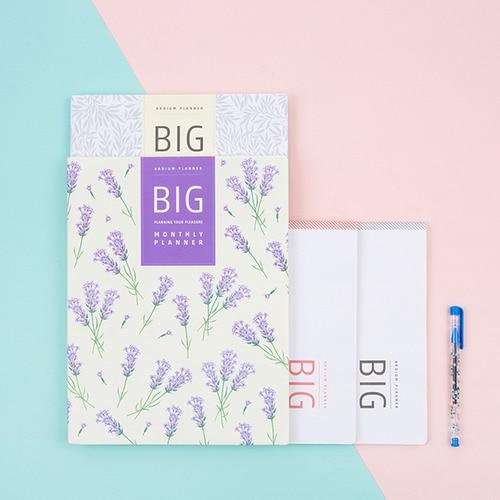 2018 Big Monthly Planner 13 Months Scheduler Book 23 30cm 32P Korean Fashion Diary Plan Notebook