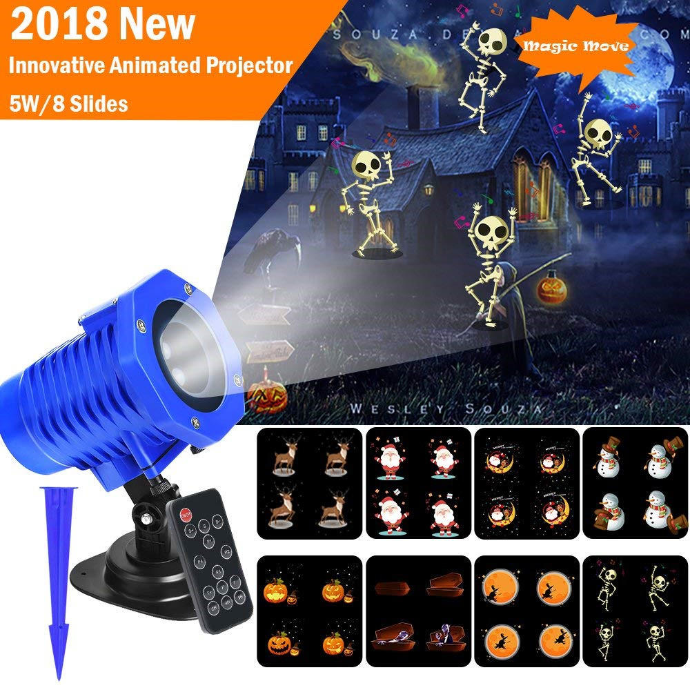 VNL IP65 Animated Led Projector Light High brightness 5W Sata Elk Patterns Waterproof For Halloween Christmas Party Holiday носки детские гранд цвет серый 2 пары tcl8 размер 22 24