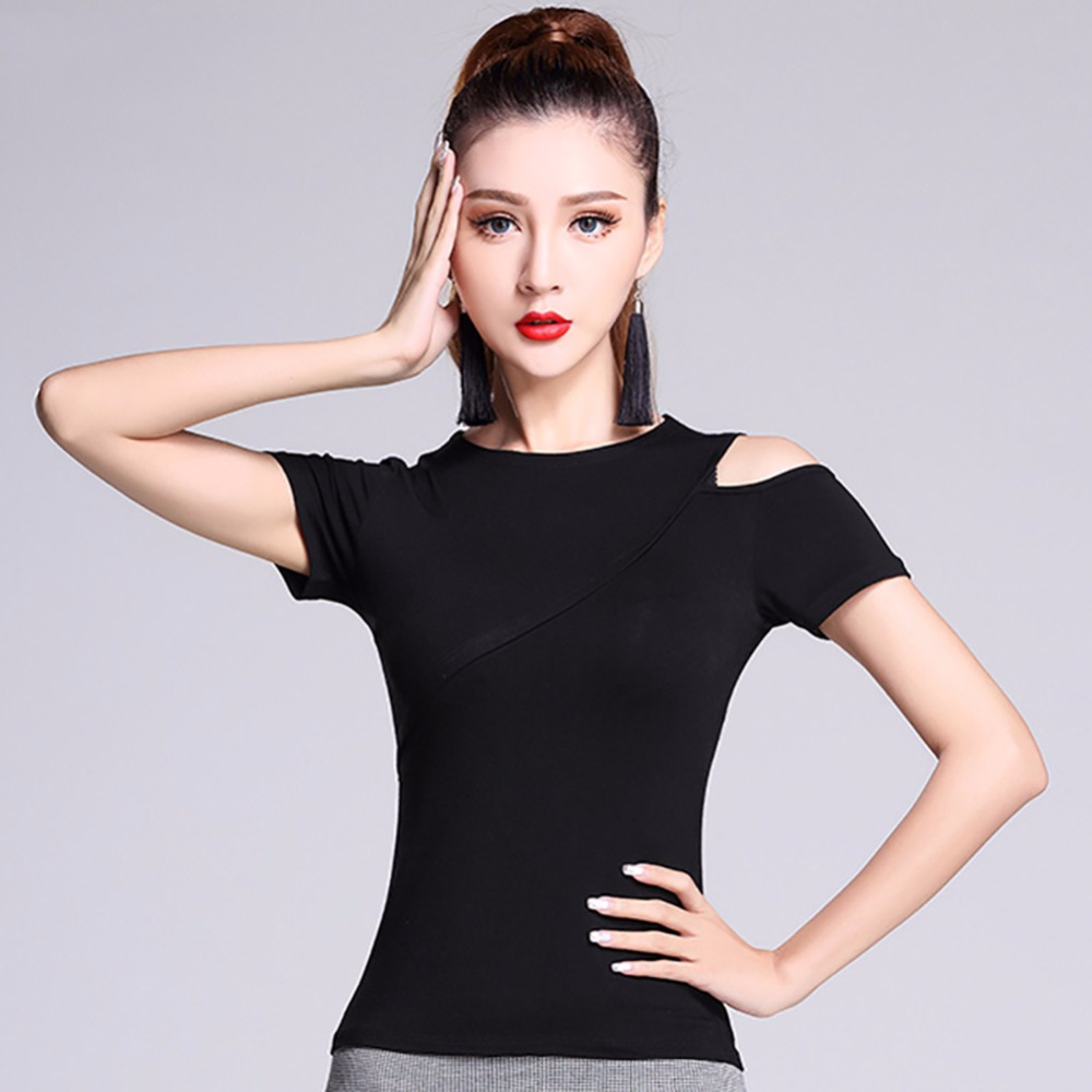 2017 Sex Ladies Latin Dancing Top Comfortable Modal Shirt -9917