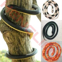 Halloween Realistic Soft Rubber Toy Snake Safari Garden Props Joke Prank Gift 52inch 130cm Novelty And