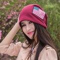 Brand New women Hip Hop Ring Warm Beanie Cap Winter Autumn Women Knitted Hats Beanies Skullies & Beanies,hat cap, american flag