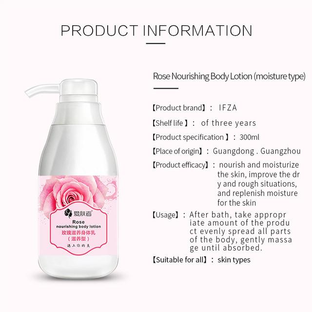 Whitening Moisturizing Rose Body Lotion Cream