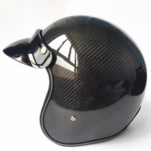 New Light good quality Carbon fiber motocross helmets vintage retro 3/4 open face helmet casque motocross free shipping free shipping cha good quality open headlight plier clamp