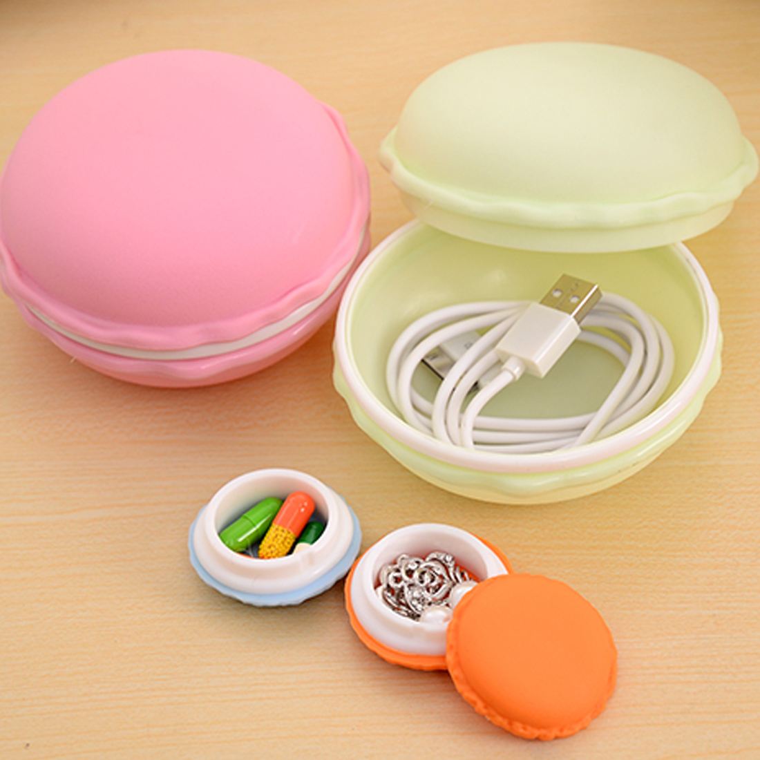 Hot Sale Sweet Small Storage Box Candy Color For Jewelry Earring Outing Storage Boxes