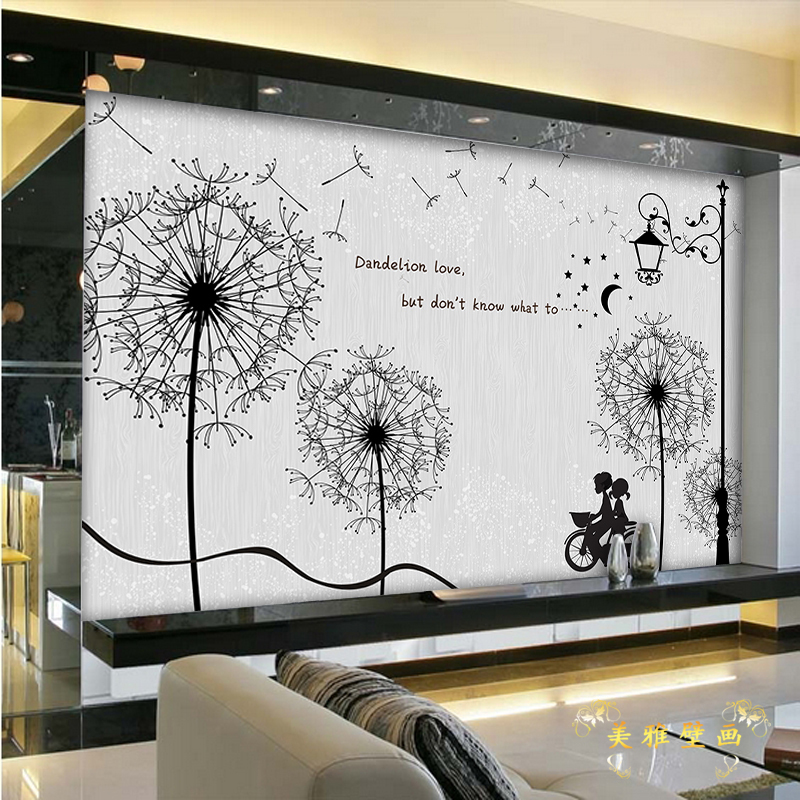 Aliexpress.com : Buy Custom 3d Mural Wallpaper Dandelion TV Room Background  Wall Romantic Bike Lovers Coffee House Wallpaper Mural From Reliable 3d  Mural ... Part 25