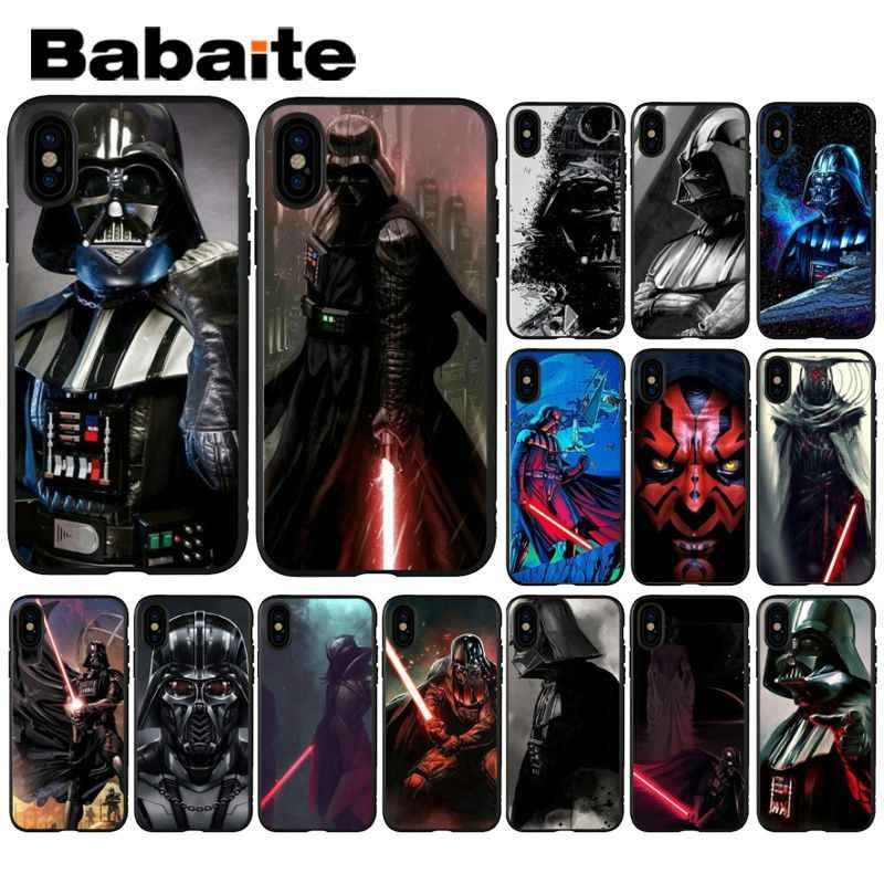Darth vader de star wars Babaite Smart Cover Preto Casca Mole Caso de Telefone para o iphone X XS MAX 6 6 s 7 7 plus 8 8 Plus 5 5S SE XR