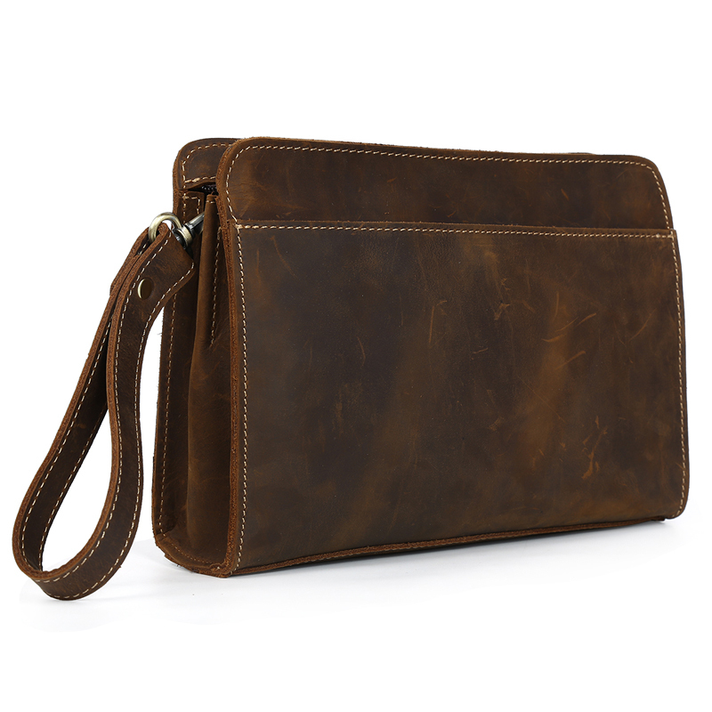 TIDING Luxury Cowhide Men Clutch Bag Genuine Leather Men Bag Business Men Clutches Zipper Male Clutch Bags Function Wallets hollandsche waaren предмет сервировки стола