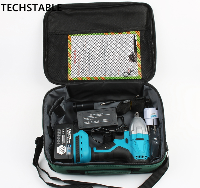 TECHSTABLE 13000 mAh 1 lithium battery Brushless Cordless electric wrench impact wrench rechargeable woodworking electric tools набор для тв ва раскраска по номерам золушка