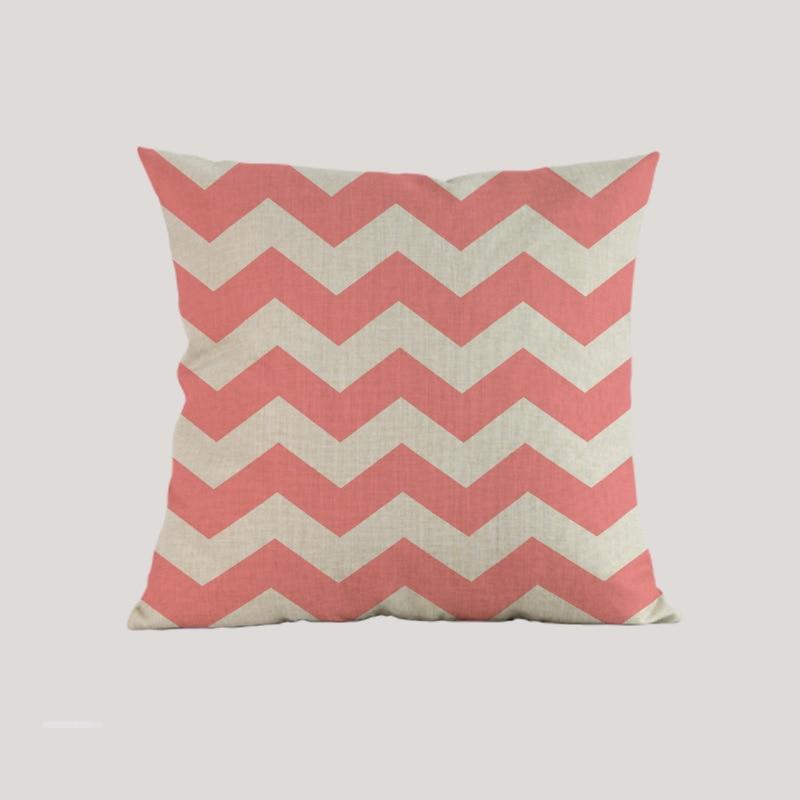 Estilo marino estilo mar tejido azul rosado navegación Funda de - Textiles para el hogar - foto 6