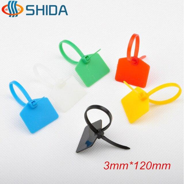 High Quality 100pcs Lot 3 120mm Plastic Nylon Cable Ties
