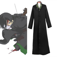 Hot Sale Darker Than Black Hei Cosplay Costume Outfit Jacket Long Coat Halloween Adult Costume