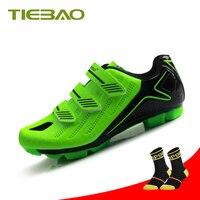 Tiebao ciclismo sapatos para homens 2019 bicicleta mtb spd sapatos de ciclismo equitação auto travamento mountain bike tênis Sapatos de ciclismo     -