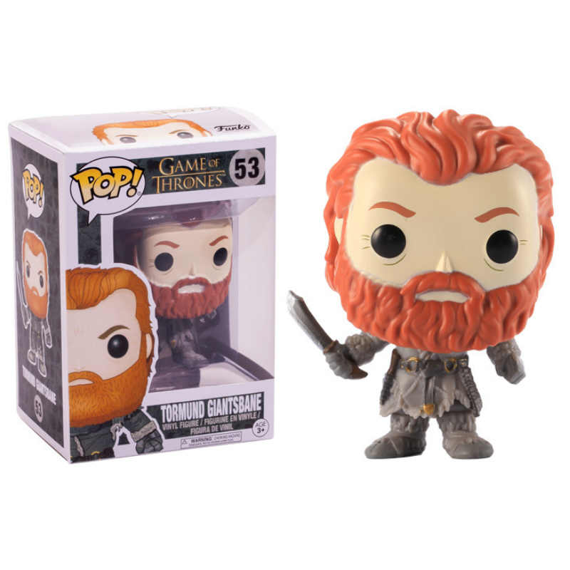 FUNKO POP Action Modello di Game of Thrones Tormund Giantsbane Figura In Vinile Bambola di Giocattoli per I Bambini Regali Di Natale