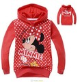 Minnie muchachas de la historieta sudaderas con capucha Hello kitty dot manga larga Camiseta informal chaqueta con capucha ropa de los niños del otoño envío gratis