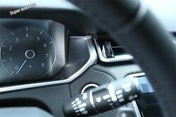 Akcesoria do Lapetus wykończenie panelu deski rozdzielczej do Land rovera Range Rover Velar 2018 2019 2020 Carbon Fiber ABS|Listwy wewnętrzne|   -