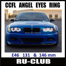 E46 non projector 131 + 146mm CCFL ANGEL EYES Kit for E46 COUPE / CONVERTIBLE / SEDAN free shipping