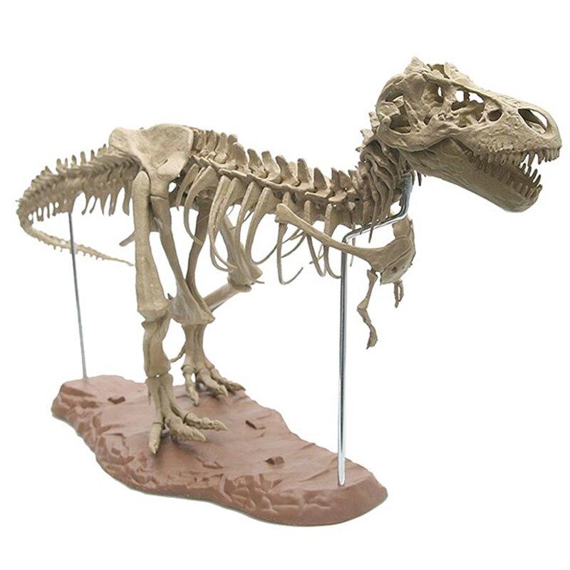 Modelo de esqueleto de dinossauro 4d e 65 peças coleção de ossos de dinossauro tyrannosaurus esqueleto fóssil simulação modelo de ensino de animais