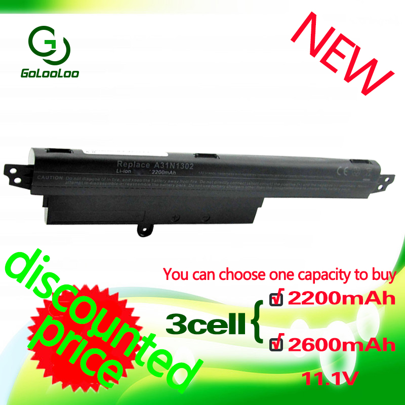 Golooloo 3 cells Laptop Battery for <font><b>Asus</b></font> VivoBook A31LM9H X200M X200MA <font><b>X200CA</b></font> X200LA A31N1302 <font><b>X200CA</b></font> R202CA X200MA 11.6