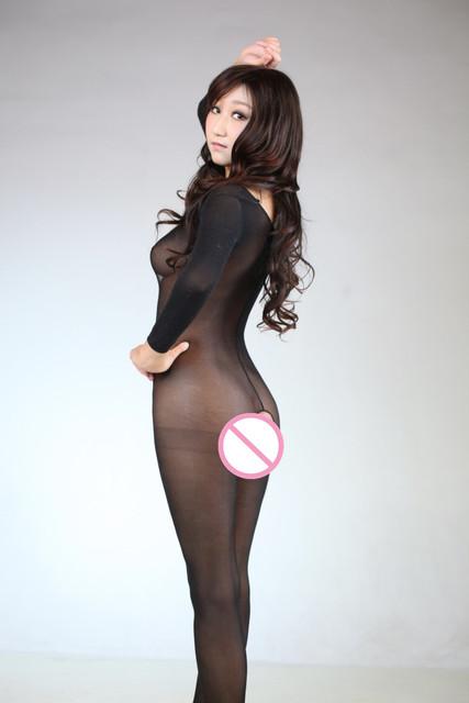 Sexy Lingerie Underwear Velvet Bodystocking Erotic Sleepwear Nylon Body Suit Women with Open Crotch Men with Penis Pantyhose