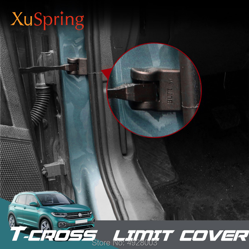 Car Styling Door Stop Cover Stopper Gate Limit Protective Sticker Auto Accessories Parts For Volkswagen VW T-cross Tcross 2019