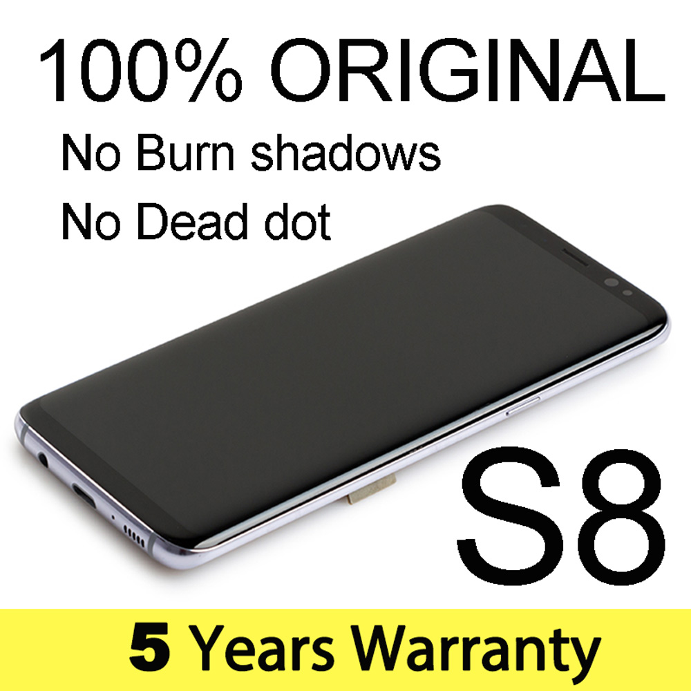 Factory Screen For Samsung S8 Lcd Display G950F Original Replacement Touch Lcd For Samsung S8 Display Frame G950 G950U G950Fd