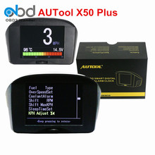 "2017 Easy Install 2.4"" AUTOOL X50 Plus Car OBD Smart Multi-Function Digital Meter & Early Alarm Water Temperature Fault Code"