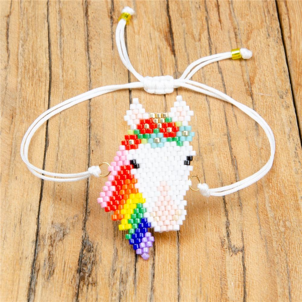 a26a87fe382e Shinus 5 unids lote Miyuki mujer pulseras Animal caballo Miyuki cuerda  cadena pulsera cuentas Delica cuentas mujer joyería tejida