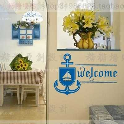 Willkommen Anker Wand Aufkleber Vinyl Aufkleber Dekor Wandbild Kunst Wohnzimmer Dekoration Navy Wand Aufkleber