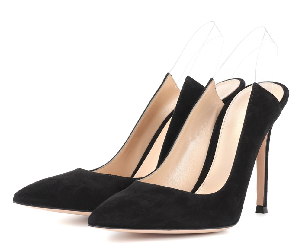 d5a4db8f73 Slip Vestido De on 2018 Black Mujeres Estilete Los Tacones Punta Zapatos  Bombas Casuales Del Altos Fiesta Estrecha Sexy Damas Las Sandalias ...