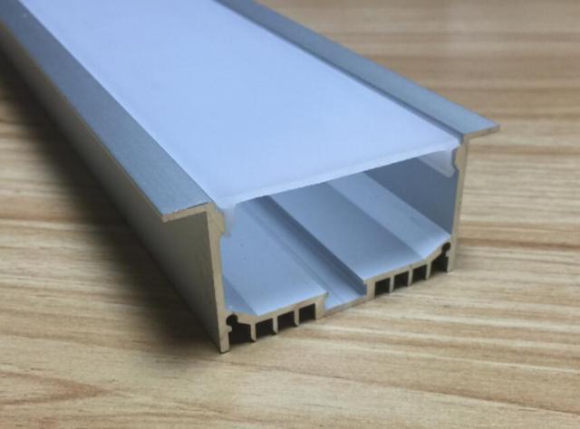 Free shiping LED Aluminium profile for led strip led bar 6063 LED aluminium for ceiling channel profile