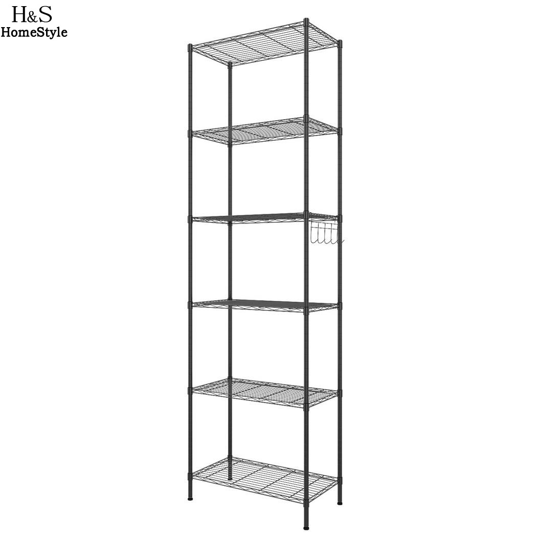 Homdox 6 Tier Wire Shelving Storage Organizer Rack