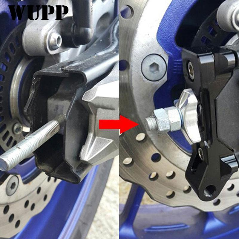 WUPP MT 07 MT07 MT-07 2013-2015 2016 Motorcycle Aluminum Rear Axle Spindle Chain Adjuster Blocks 2 Pieces MCT6733 fit for kawasaki z900 z 900 2017 motorcycle cnc aluminum rear axle spindle chain adjuster blocks and spool sliders