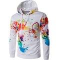 Brand 2016 Hoodie Digital Print Irregular Ink Hoodies Men Fashion Tracksuit Male Sweatshirt Off White Hoody Mens Purpose Tour