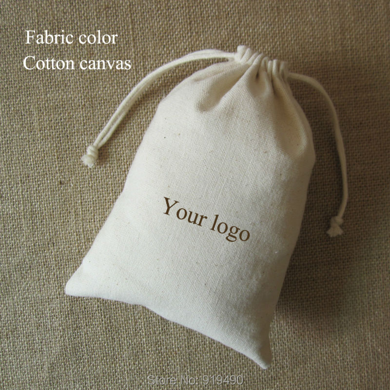 canvas drawstring bag cotton pouch jewelry  package  hair