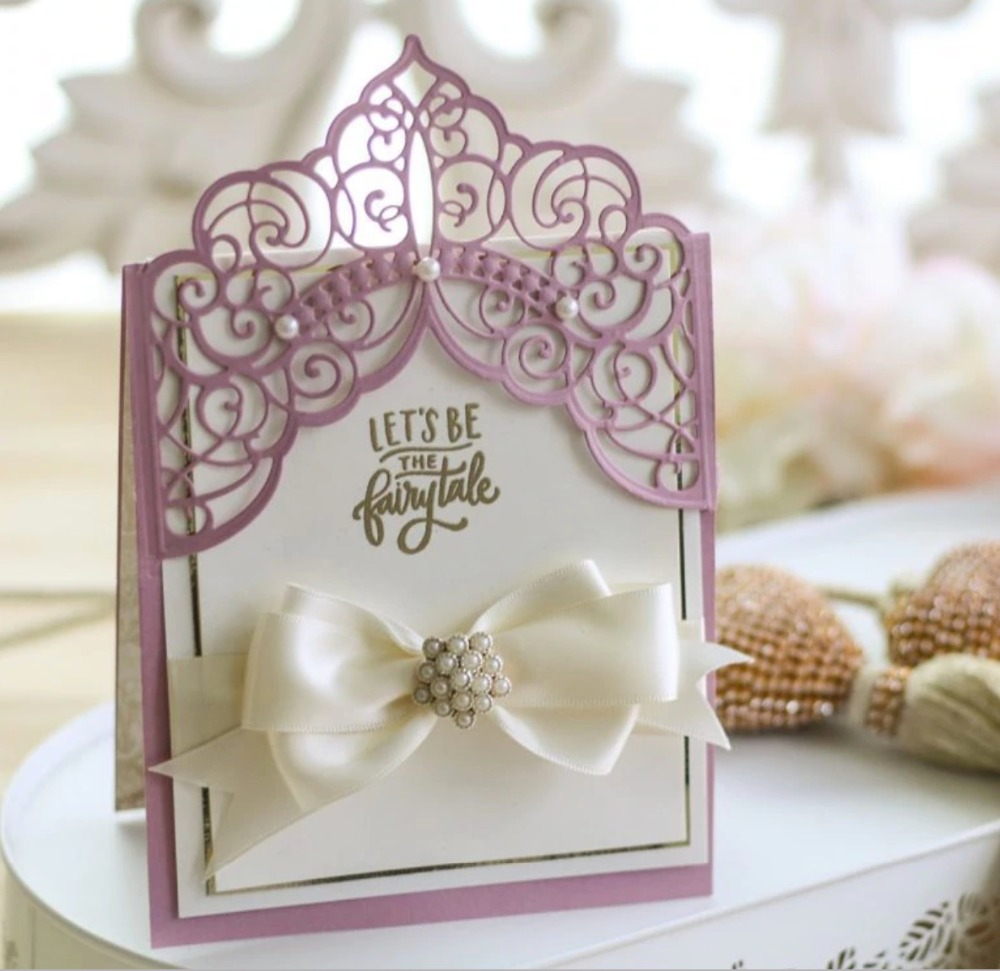 vuawrtg invitation card lace border metal cutting dies for