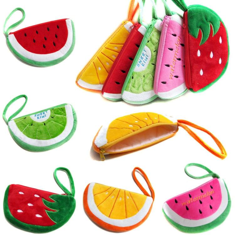 18*11CM Watermelon Mobile Phone Key Bag Coin Purse Extender Wallet Gift Free Shipping SY3120 watermelon plush key coin wallet purse cosmetic makeup pouch phone pencil pen bag 92de