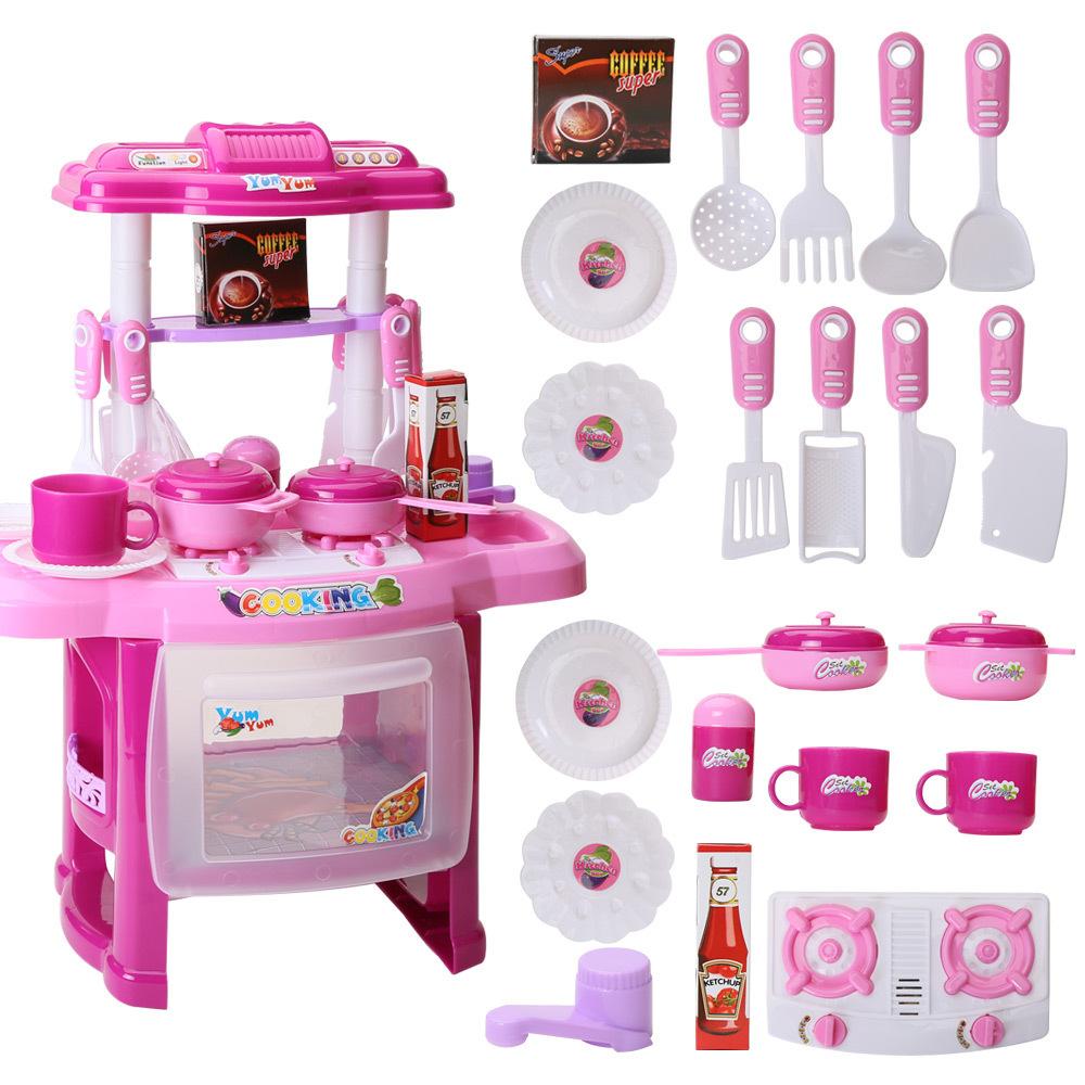 unidsset diy juego de ollas utensilios de cocina para nios cocina pretend play