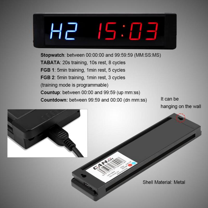 21 cm 6 Dígitos Programáveis Temporizador Relógio